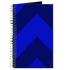 Dark Blue Chevron Journal