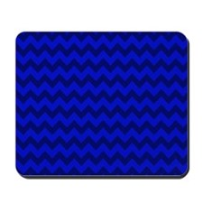 Dark Blue Chevron Mousepad
