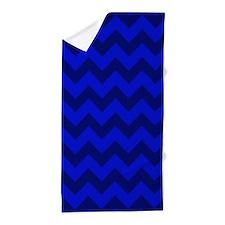 Dark Blue Chevron Beach Towel