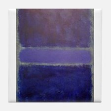 Shades of Purples rothko copy_ Tile Coaster