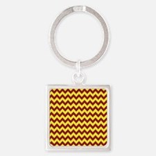 Maroon and Gold Chevron Keychains