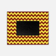 Maroon and Gold Chevron Picture Frame