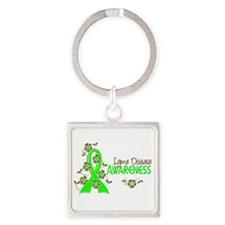 Lyme Disease Awareness 6 Square Keychain
