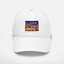 Boston Harbor at Night text BOSTON copy Baseball C