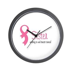 Sister Walking for Breast Can Wall Clock