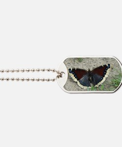 Close up of Gorgeous Mourning Cloak Butte Dog Tags