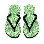 Green Swirls Flip Flops
