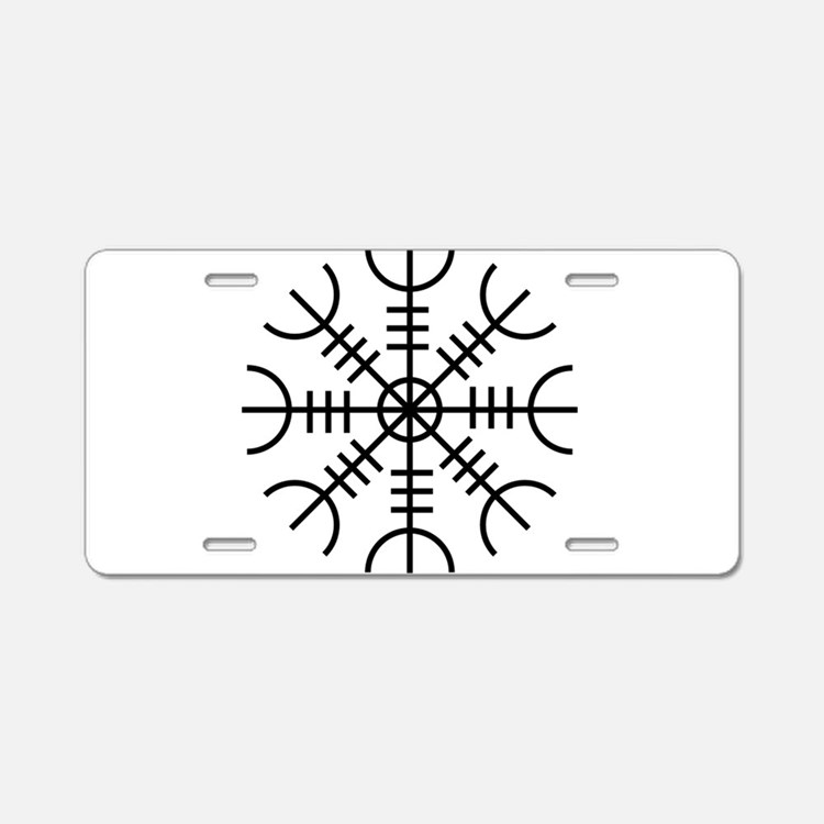Helm of Awe (Ægishjálmur) Aluminum License Plate