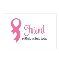 Friend Walking for Breast can Postcards (Package o