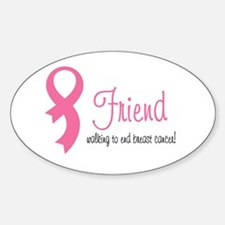 Friend Walking for Breast can Oval Decal