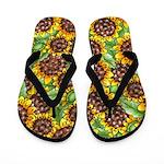 Sunflower Fantasy Flip Flops