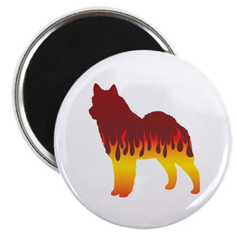 """Lapphund Flames 2.25"""" Magnet (100 pack)"""