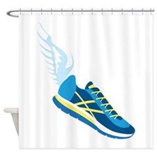 Running Shoe Wing Shower Curtain