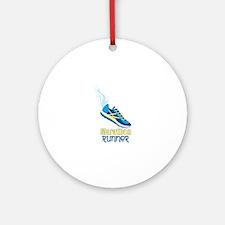 Marathon Runner Ornament (Round)