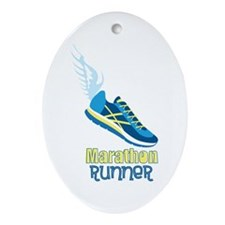Marathon Runner Ornament (Oval)