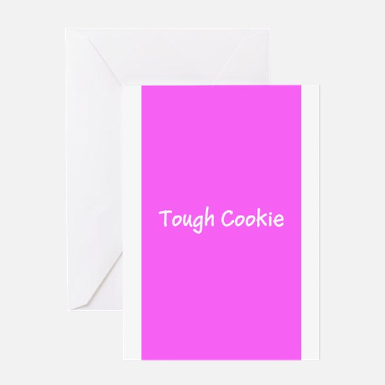 Tough Cookie Pink Breast Cancer 4Mi Greeting Cards
