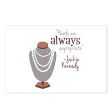 Pearls are always appropriate Postcards (Package o