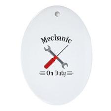 Mechanic on Duty Ornament (Oval)