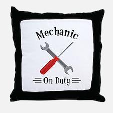Mechanic on Duty Throw Pillow