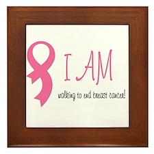 I am walking for Breast Cance Framed Tile