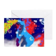 un1corn vomit Greeting Card