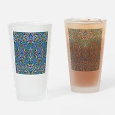 Colorful Abstract Psychedelic Symme Drinking Glass