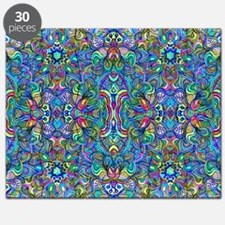 Colorful Abstract Psychedelic Symmetrical S Puzzle