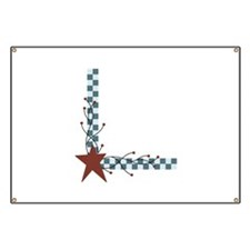 Primitive Country Star Border Banner