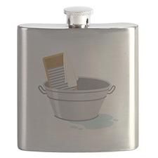 Laundry Tub Washboard Flask