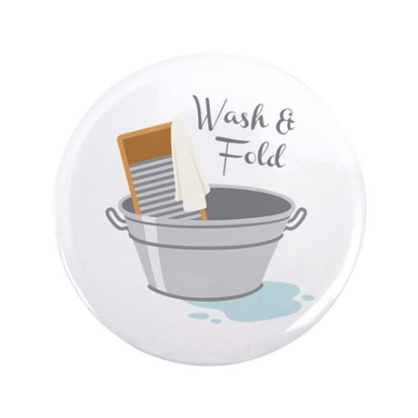 """Wash Fold 3.5"""" Button (100 pack)"""