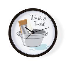Wash Fold Wall Clock