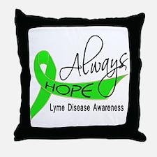 Lyme Disease Always Hope Throw Pillow