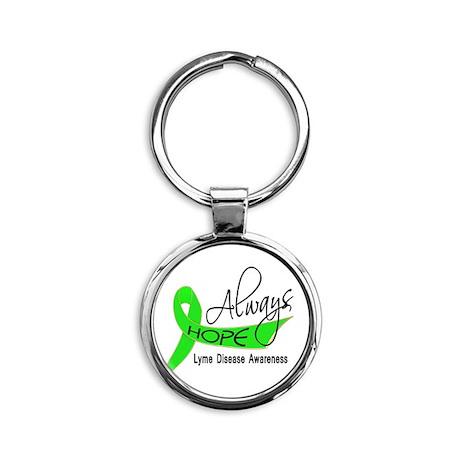 Lyme Disease Always Hope Round Keychain
