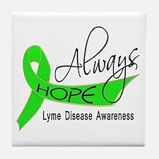 Lyme Disease Always Hope Tile Coaster