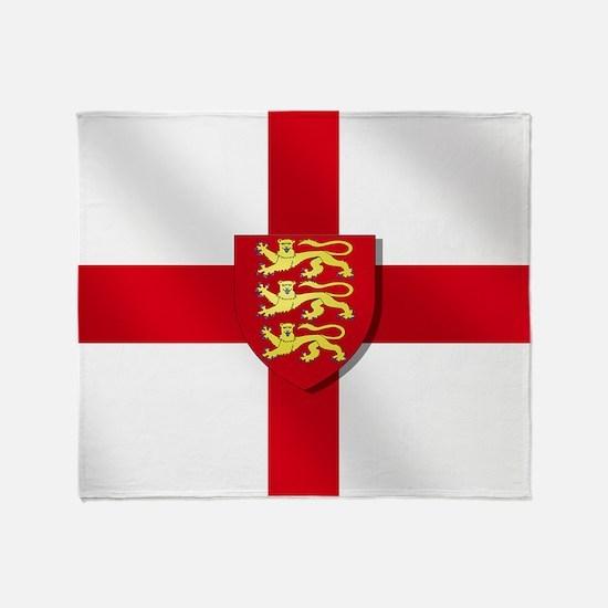 England Three Lions Flag Throw Blanket