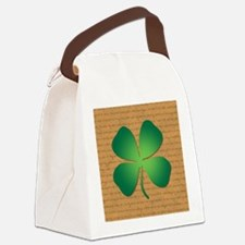 DUBLINER FOUR LEAF CLOVER Canvas Lunch Bag
