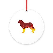 Estrela Flames Ornament (Round)