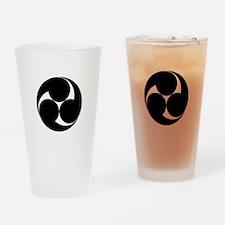 Three clockwise swirls Drinking Glass