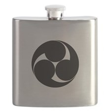 Three clockwise swirls Flask
