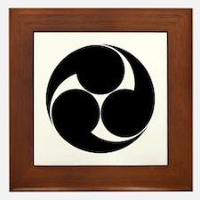 Three clockwise swirls Framed Tile