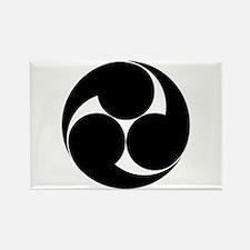 Three clockwise swirls Rectangle Magnet