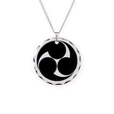 Three clockwise swirls Necklace