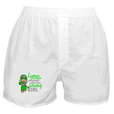 Lyme Disease Combat Girl Boxer Shorts