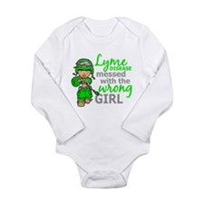 Lyme Disease Combat Gi Long Sleeve Infant Bodysuit