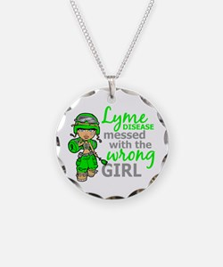 Lyme Disease Combat Girl Necklace
