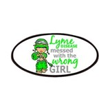 Lyme disease ribbon Patches