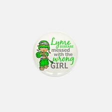 Lyme Disease Combat Girl Mini Button (10 pack)