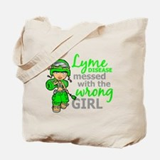 Lyme Disease Combat Girl Tote Bag