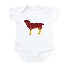Entlebucher Flames Infant Bodysuit