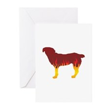 Entlebucher Flames Greeting Cards (Pk of 10)